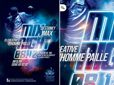 Flyer Mix Night Festival Tanbou Lezans