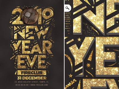 New Year Eve Flyer countdown holidays event dj party club template eve celebration flyer nye new year