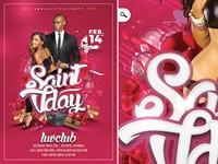 Saint Val Day Party Flyer