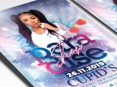 Performer Show Flyer Template drinks dj photoshop live paradise night party club template flyer show performer