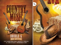 Country Music Night Flyer