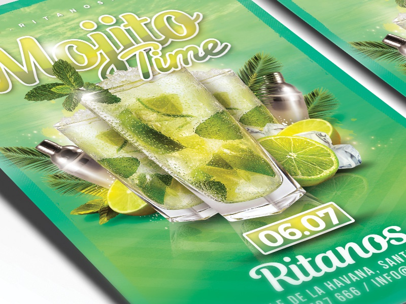 Mojito Time Party Flyer By N2n44 On Dribbble