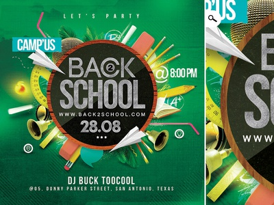 Back To School Template dj eve club party college university high school back to school template flyer class school mate