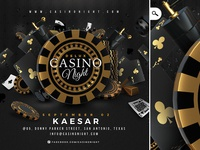 Squared Casino Night Deluxe Flyer