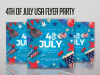 4th of july usa flyer party 4