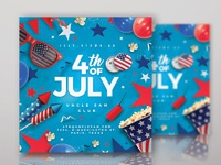 4th of july usa flyer party 2