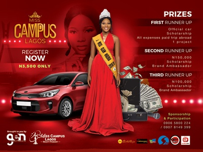 Miss Campus - Beauty Pageant Registration Flyer