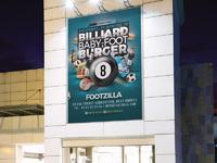 Billiard babyfoot burger flyer 5