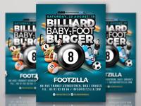 Billiard babyfoot burger flyer 4