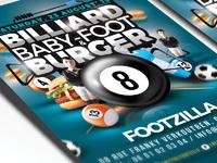 Billiard babyfoot burger flyer 2
