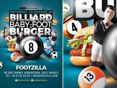 Billiard Babyfoot Burger Flyer