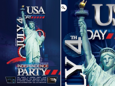 July 4th Independence Day Party Usa patriot celebration national america flyer club party usa day independence 4th july