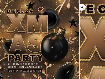 Xmas Party Flyer / Christmas Template santa claus new year nye bash ball club party celebration template flyer christmas xmas