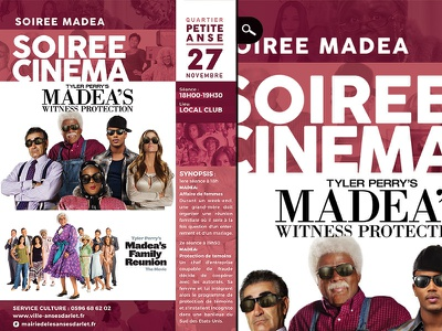 movie club madea night comedy art town hall family reunion programme flyer culture department showing theater cinema film movie