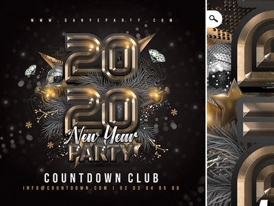 New Year Party Nye Flyer