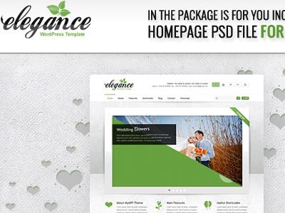 Free Elegance PSD's files wordpress theme template freebie psd download free