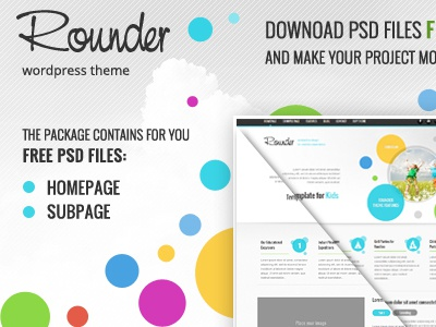 Free Rounder PSD's files free download psd freebie template theme wordpress