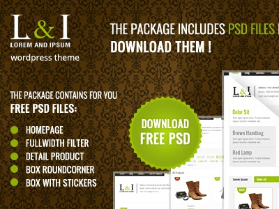 Free Lorem Ipsum PSD's files free download psd freebie template theme wordpress