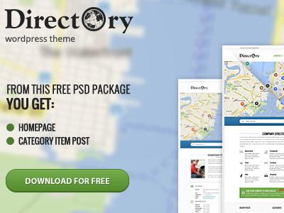 Free Directory PSD's files free download psd freebie template theme wordpressreator blog subpage homepage wordpress