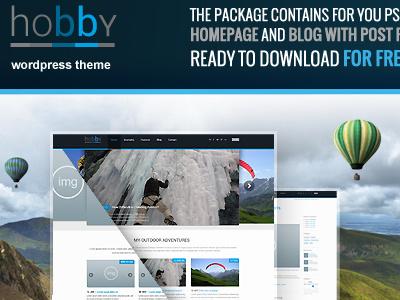 Free Hobby PSD's files free download psd freebie template theme wordpressreator blog subpage homepage wordpress