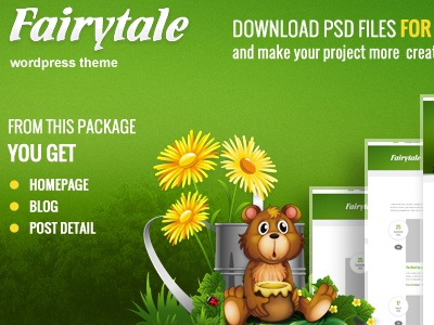 Free Fairytale PSD's files free download psd freebie template theme wordpressreator blog subpage homepage wordpress