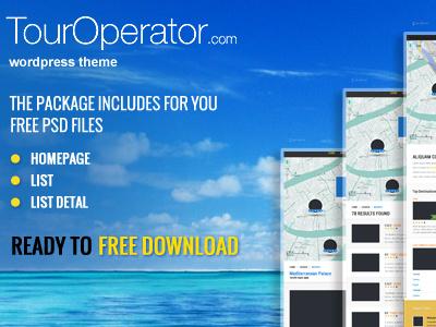 Free Touroperator PSD's files free download psd freebie template theme wordpressreator blog subpage homepage wordpress