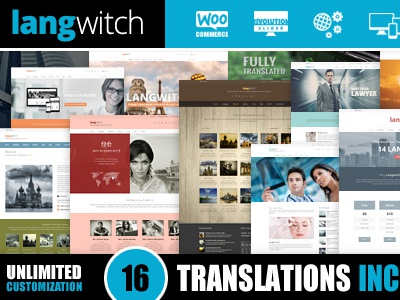 Langwitch: Multi Purpose WP Theme in 16 Languages theme wordpress translated multipurpose multilingual blog presentation responsive universal drag and drop customizable elements page builder