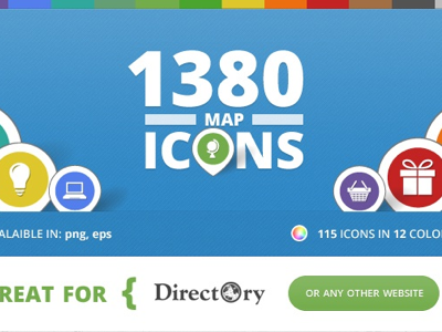 Map Icons for Directory maps website colors vector design graphics directory business finder icons