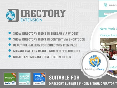 Directory Extension Plugin for directory wordpress themes directory theme template plugin gallery sidebar business item extension listing wordpress website