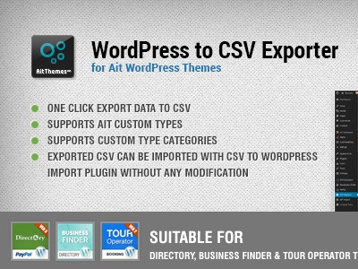 WordPress to CSV Export Plugin wordpress theme plugin business export data csv template import