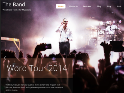 The Band theme for bands & musicians responsive premium wordpress theme woocommerce eshop translated multilingual page builder