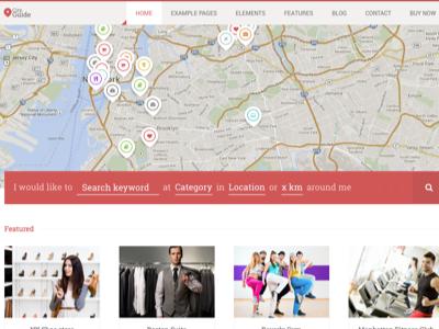 CITY GUIDE DIRECTORY WORDPRESS THEME directory theme wordpress plugin gallery sidebar business item finder