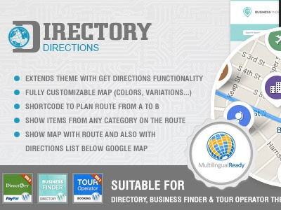 Get Directions Plugin for directory ait's wp themes wordpress plugin business directory data business finder template map