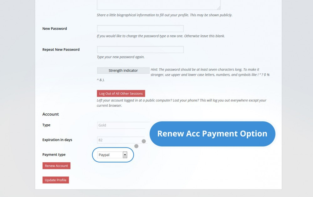 Easy admin with paypal
