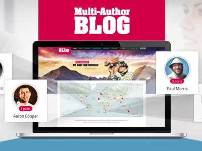 Multi-Author BLOG wordpress theme multilingual traveling cooking politics sports culture events reviews authors-of-ebooks