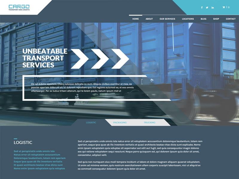 Cargo WordPress Theme theme wordpress multilingual goods delivery logistic services transport cargo