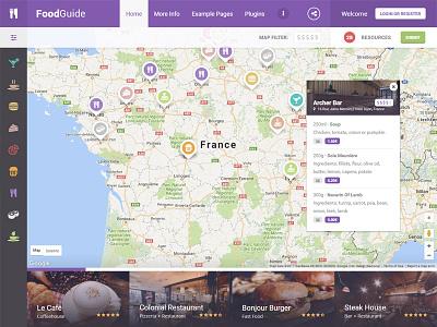 FoodGuide WordPress Theme theme wordpress listings directory maps bistro bar cafe menu restaurant guide food