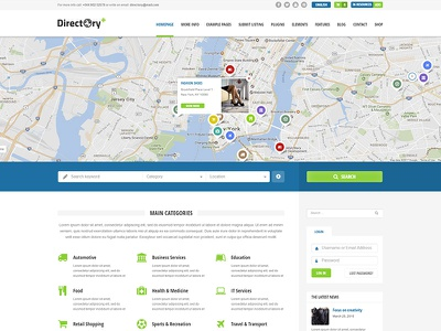 Directory+ WordPress Theme theme wordpress multilingual maps items portal listings directory