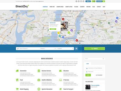 Directory+ WordPress Theme