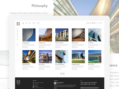 Architect WordPress Theme theme wordpress multilingual fullscreen designer architect