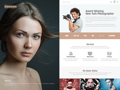 Photographer WordPress Theme burger menu multilingual theme wordpress presentation photobook portfolio photos photographer