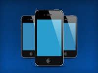 FREE PSD Iphones Illustration