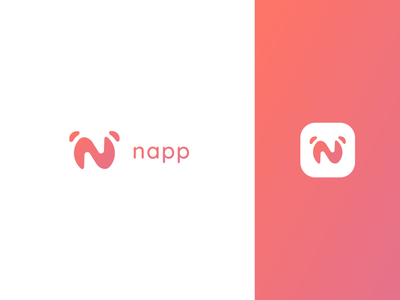 Logo Design - Napp wakeup alarm mobile ui mobile app vector typography illustration icon app branding logo