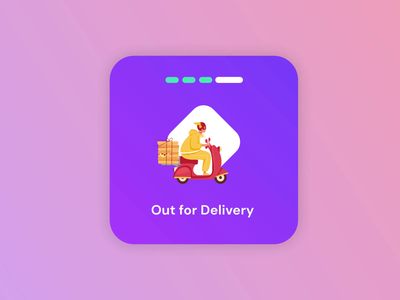 Food Delivery UI animation delivery truck food delivery drink mobile ui delivery status mobile app food illustration motion maps animation scooter pizza app ui delivery food