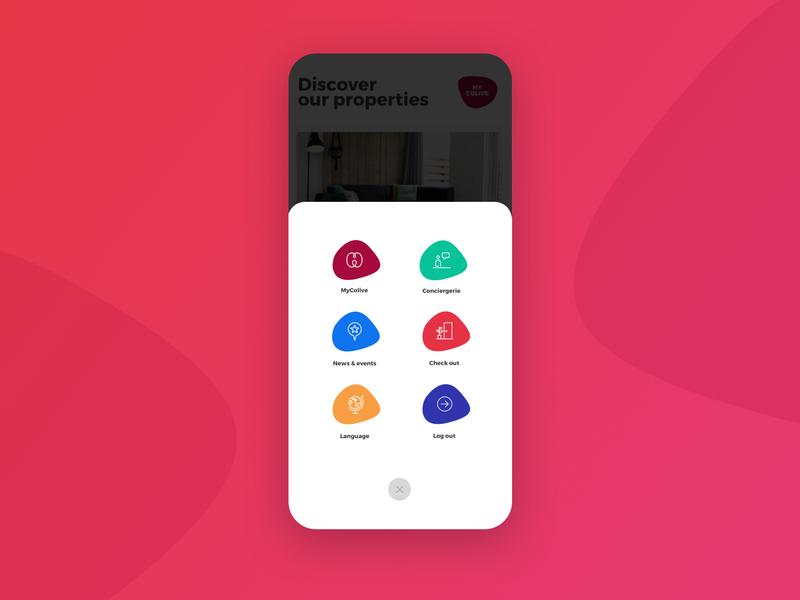 Menu UI mobile app illustration menu design menu card icon ux menu mobile design mobile app mobile ui