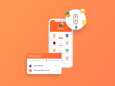 Team management homescreen UI mobile app uidesign ui  ux football team sport card design cards ux illustration mobile ui homepage design home screen homepage