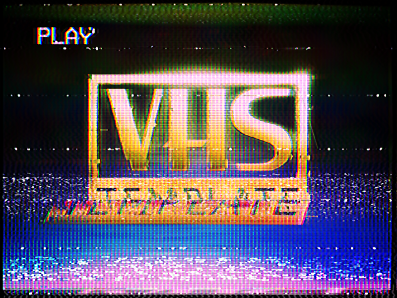 vhs effect template by daniël goyvaerts dribbble dribbble