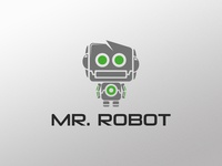 robot logo designs on dribbble