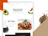 Gloria's Latin Cuisine - Website Design