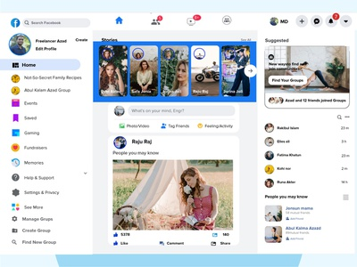 Facebook Landing Page Design